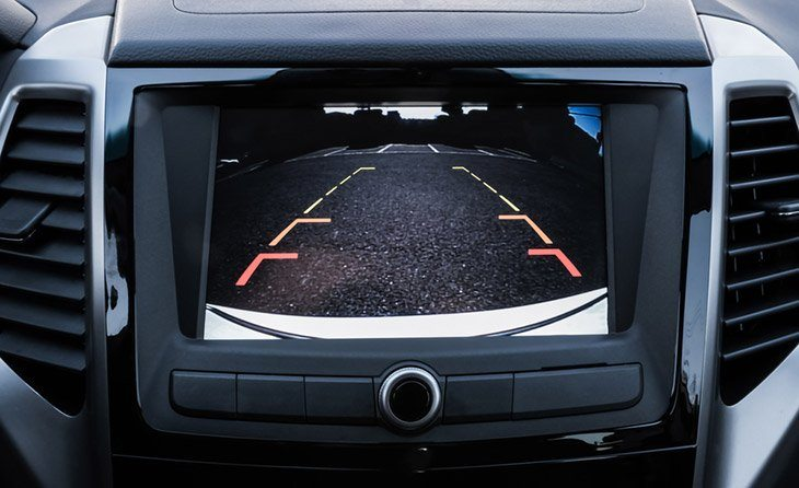 Rear-area-image-showing-automobile-occurrence-Automotive-rear-area-video-camera