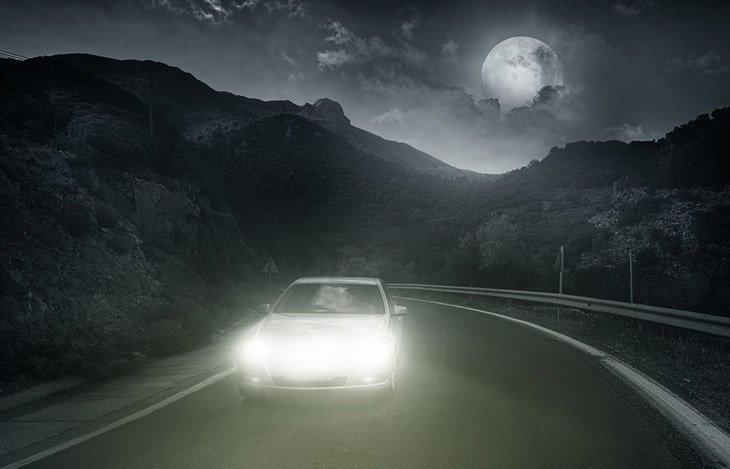 car in night vision
