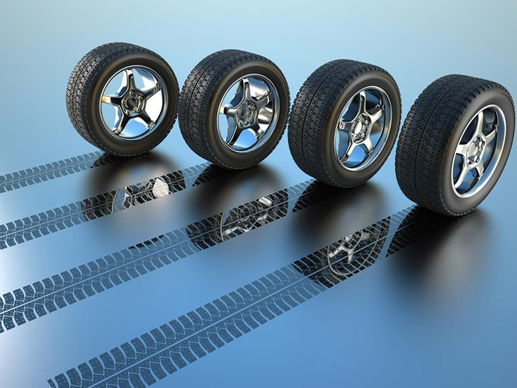 3d-rendered-illustration-of-four-car-wheel-making-tire-track