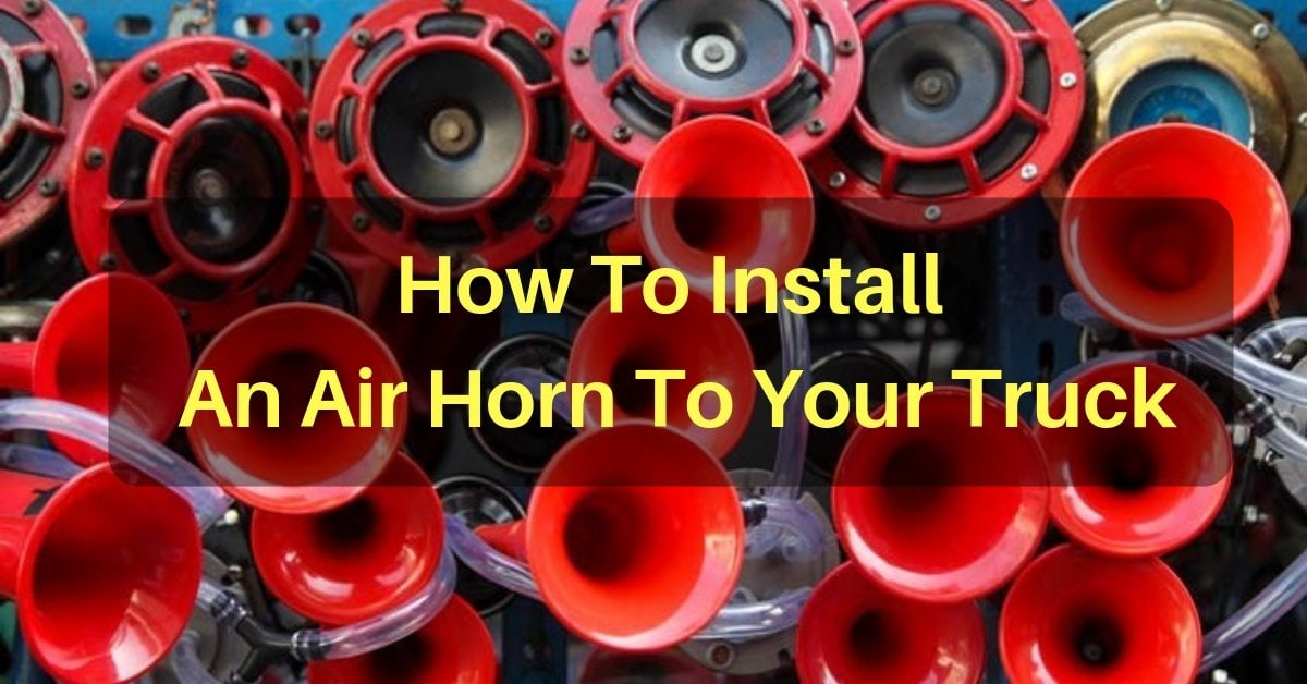 How to install air horn